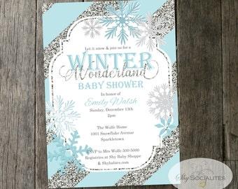 Nice Winter Wonderland Baby Shower   Etsy