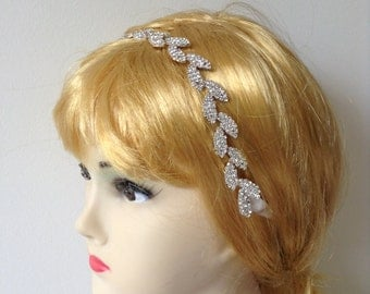 Rhinestone Bridal Headband, Rhinestone Bridal Headpiece, Wedding Headpiece, Wedding Headband, Bridal Hair Accessories, Wedding Hair