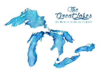 5x7, 8x10, 8.5x11 or 11x14 - Great Lakes Print