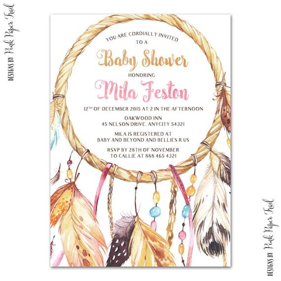 Bohemian Baby Shower Bridal Wedding Boho Party