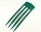 Reserved for Carolin Four Prong Hair Fork made from Turquoise Gemwood DymondWood-  Very durable. Water resistant.