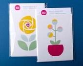 Floral postcards   Scandi Flower cards   Set of 6