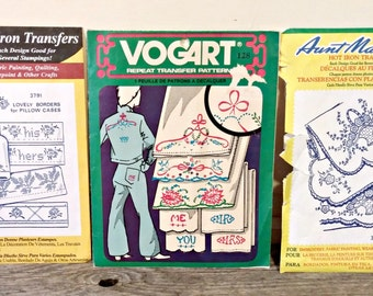 Hot Iron Transfers | Embroidery Transfers