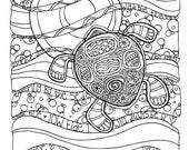 KPM Doodles Coloring page Sea Turtle
