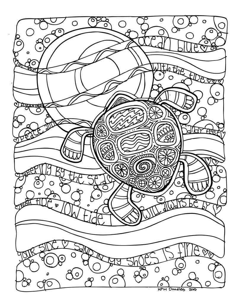 coloring pages of turtles - photo#39