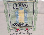 The Quiet Woman - Vintage Embroidery Piece