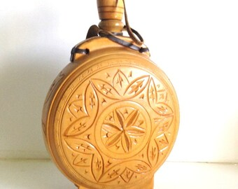 Vintage Wooden and Leather Decanter/Canteen