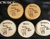Tooth Fairy Box Natural Wood Custom Personalized, Stamps, small keepsakes or as a gift box or Pill box, or Ring Box, Button Box