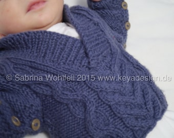 """Handknitted Wool Jumper """"Henry"""" for Babies size 62/68"""