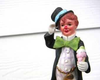 Ice Cream Cone Clown Figurine Vintage John McClelland by Reco