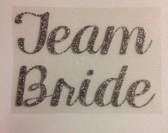 "Bachelorette Iron-On Decal ""TEAM BRIDE"""