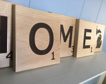 Large HOME Scrabble tile set