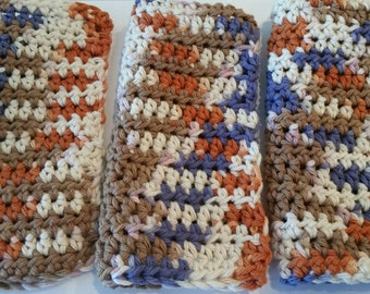100& Cotton Eco Friendly Crocheted Dish/Wash/Face Cloths