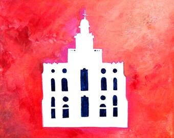 St George Utah Temple Art - Instant Download