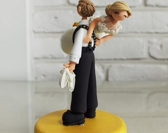 Cute couple wedding cake topper -I will take you there