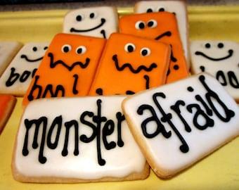 Halloween Spooky Word Cookies-2 dozen