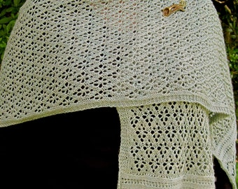 Knit Shawl Pattern:  The Whalsay Stole Knitting Pattern