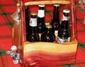 Beer tote caddy bottle opener magnetic bottle cap catcher one-of-a-kind gift idea ready to ship just for him dad brother uncle boyfriend