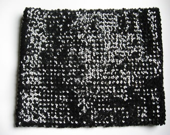 House of Nu Mode Toronto stellar stretch sequin tube top true vintage S/M black perfect