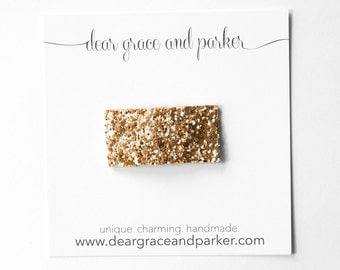 Pale Gold || Glitter Snap Clip