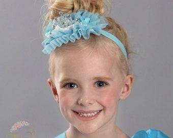 Cinderella inspired crown baby headband- crown headband,princess crown,newborn crown, birthday headband,birthday crown,Baby 1st birthday.