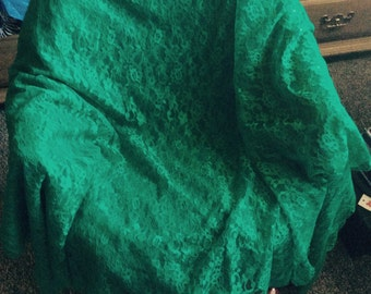 Lace XL bedspread/tablecloth unused no flaws green vtg 70s sale!