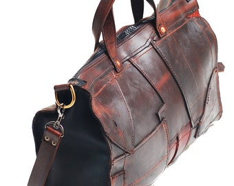 """Rare Unique """"NOT for SALE"""" Leather briefcase, Leather Duffle bag, Leather DSLR bag, Leather Overnight Bag, laptop bag, Handbag, Pizza bag"""