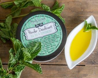 Tea Tree and Peppermint Organic Deodorant Powder - Body Powder Deodorant All Natural Vegan Mint, Tea Tree, and Patchouli Essential Oil Blend