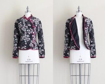 Vintage Asian Jacket . Mandarin Collar Chinese Jacket . Womens Outerwear