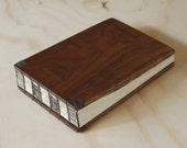 wood wedding guest book or sketchbook  vacation home cabin guestbook black walnut wood book rustic memorial guestbook - made to order