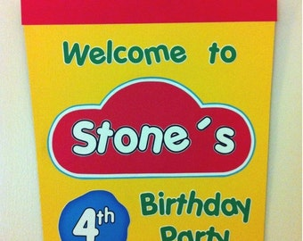 PLAY DOUGH Birthday Party Door Sign