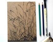Sketchbook/Jotter - Long Grass, Early Summer