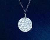 Moon Medallion Sterling Silver Necklace
