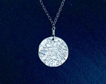 SALE Moon Medallion Sterling Silver Necklace - enter coupon code SPRINGSALE at checkout to receive 20% off