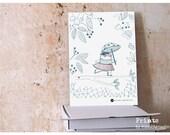 Bear Ballerina children illustration art print by Maedchenwahn