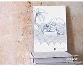 Original Illustraion Art Print Bear on Holiday children illustration print by Maedchenwahn