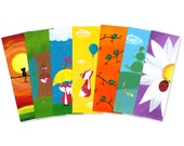 Set of Any 10 Forest Friend Bookmarks - Party Favors - Bulk Bookmarks - Lot of Bookmarks - Bulk Party Favors
