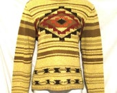 Big Sale Indian Design Petite Sweater PENDLETON Beige Pullover sz P/S