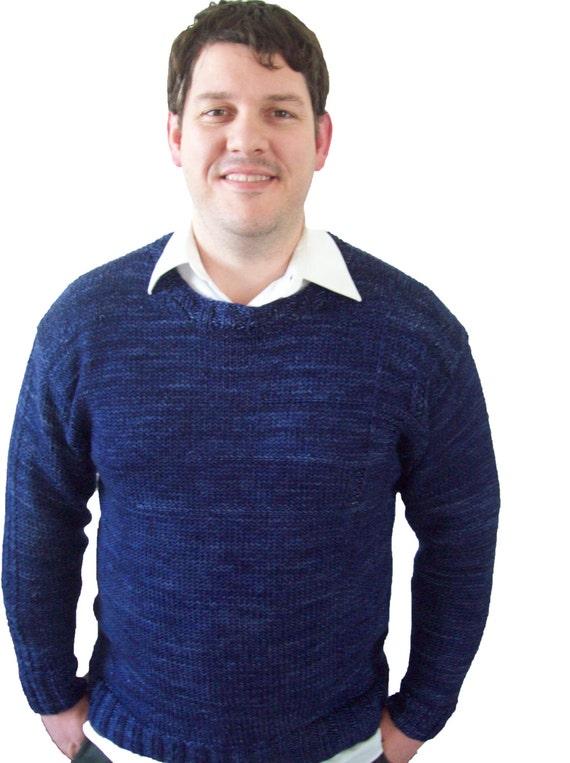 Boyfriend Jumper Knitting Pattern : Mens sweater knitting pattern: oversized hand knit ...