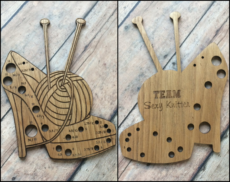 Knitting Needle Gauge Necklace : Knitting needle gauge sexy knitter limited edition shoe