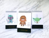 2016 Calendar Star Wars : Christmas Gift Idea, New Year Gift & Office Decor for Sci-fi Lovers // Desktop Calendar