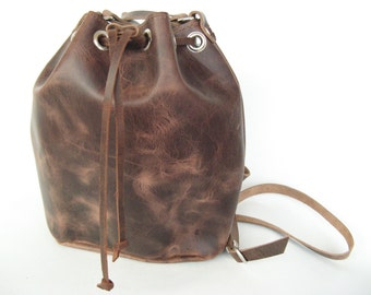 Leather bucket ! Womens Handbag!10 COLOURS/Bucket bag/Leather bucket bag
