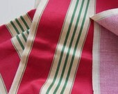 French Mattress Ticking Fabric Cotton Sateen Holiday Colors