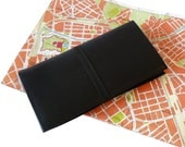 Hobo International Black Leather Travel Organizer Document Holder Wallet
