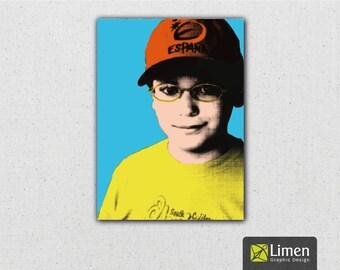 Custom Pop Art Portrait, Custom Portrait, Portrait Art, Wall Art, Digital Portrait, Wedding Gift, Custom Art, Unique Gift, Personalized Gift