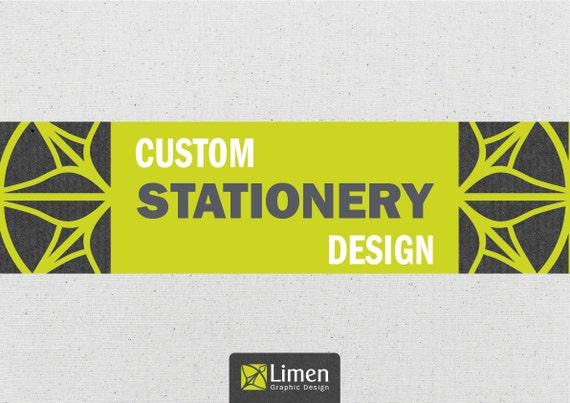 Custom Stationery Design: Custom Letterhead, Custom Business Card & Custom Envelope. Professional Graphic Design. Business Stationery