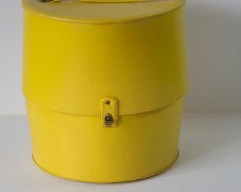 Vintage Yellow Wig Box