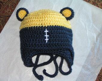 Michigan Baby hat  for University of Michigan,  Central Michigan, Ferris St, Spartans, MSU, Baltimore Ravens, Detroit, newborn to 12 months