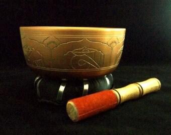 Tibetan Singing Bowl - meditation, meditation gift, meditation room, zen, sacred space