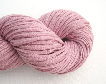 Recycled DK Silk Chainette Yarn, Pale Mauve, Lot 041015